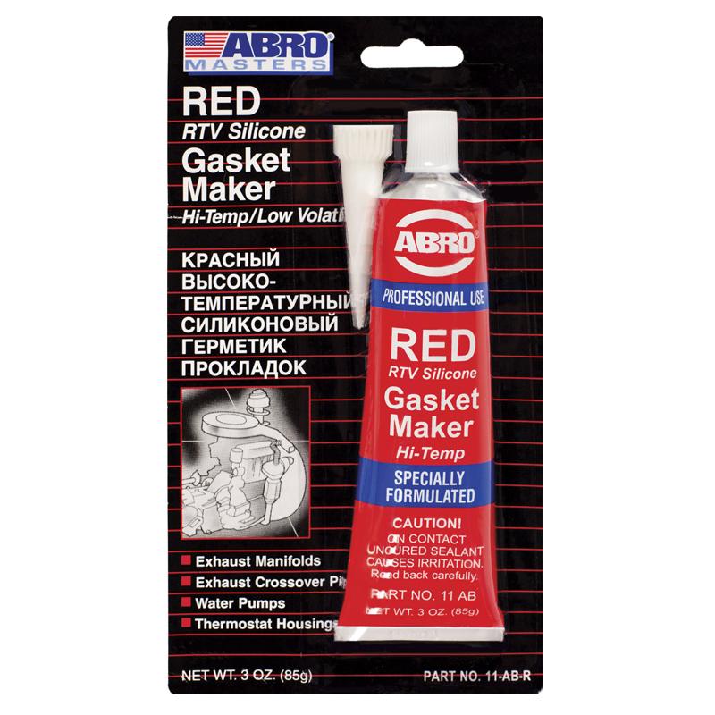Герметик силиконовый ABRO AB-11 красный 85гр